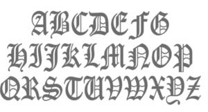 Font image